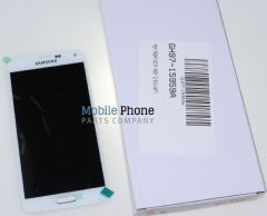 Genuine Samsung Galaxy S5 G900F LCD + Digitiser White - Part No: GH97-15959A